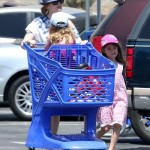 Isla Fisher Takes Her Daughters Elula & Olive Shopping for Toys (PHOTOS)