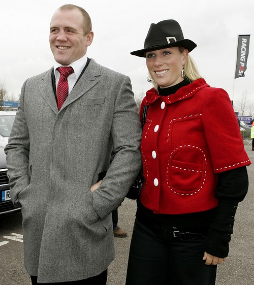 Zara Phillips And Mike Tindall At The Cheltenham Horse Racing Festival (USA AND OZ ONLY)