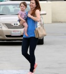 Exclusive... Alyson Hannigan & Family Shopping At Michael's