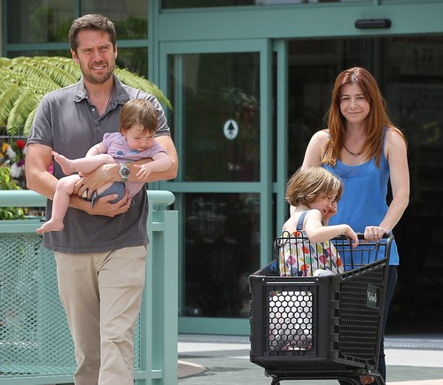 Alyson Hannigan and Husband Alexis Denisof Out Shopping With Their Daughters