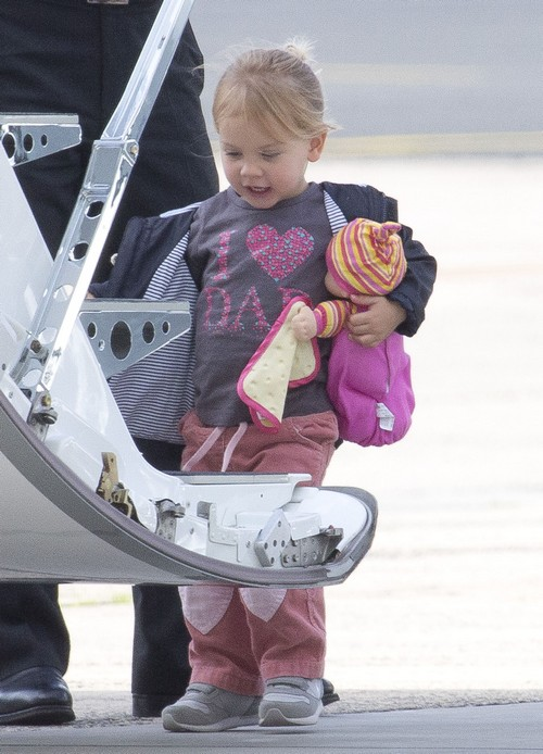 Willow Hart Arriving On A Flight In Australia
