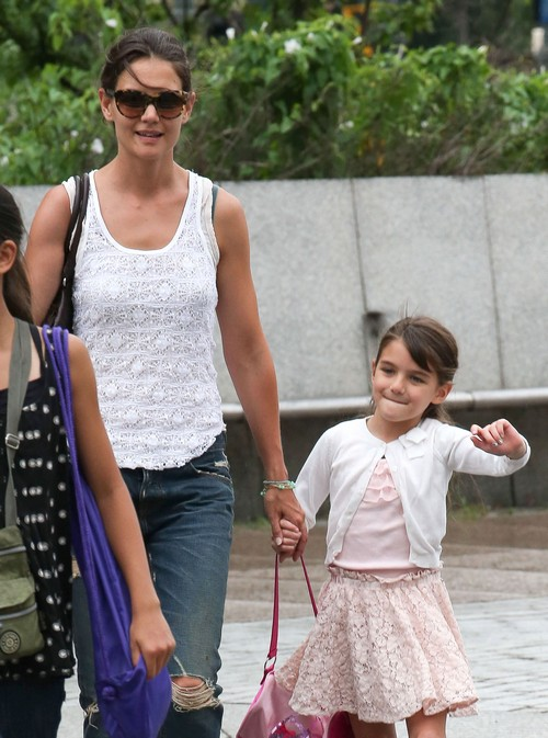 Suri Cruise Looks Happy As She And Mom Katie Holmes Leave Her Gymnastics Class