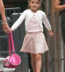 Katie Holmes & Suri Talk A Walk After Suri's Gymnastics Class