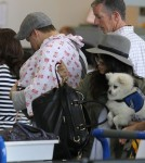 Channing Tatum & Family Departing On A Flight At LAX
