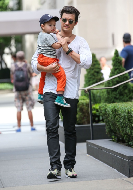 Orlando Bloom: Central Park Bonding With Flynn