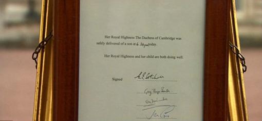 Royal Baby Notice