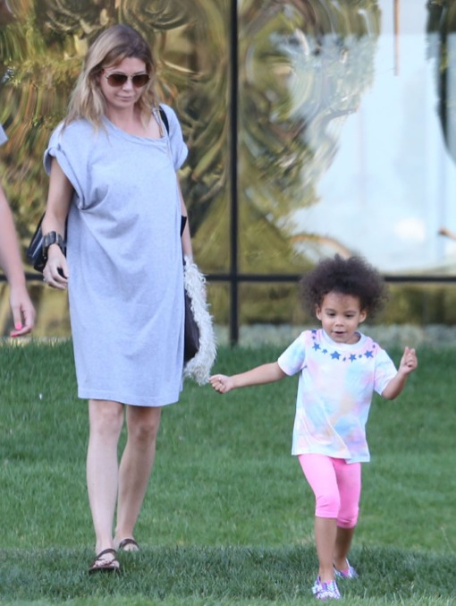 Ellen Pompeo Spends the Day With Stella
