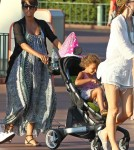 Pregnant Halle Berry Takes Nahla To Disneyland