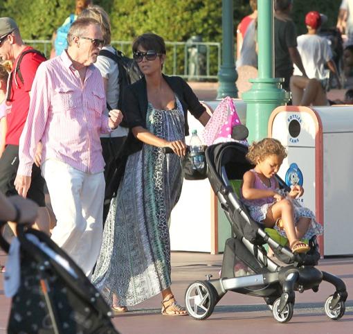 Halle Berry Takes Nahla to DisneyLand
