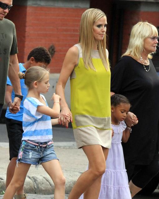 Heidi Klum Enjoys a Day With Her Kids