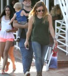 Semi-Exclusive... Hilary Duff & Family Shopping At Fred Segal
