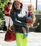 Hilary Duff Out And About With Luca