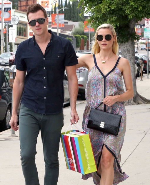 Pregnant Jaime King & Kyle Newman Go To A Party In West Hollywood