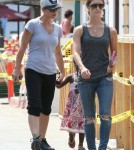 Exclusive... Jillian Michaels & Her Partner Take Their Daughter To The Malibu Countrymart
