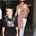 Kate Hudson & Family Touch Down