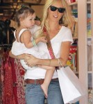 Exclusive... Kimberly Stewart Takes Delilah Toy Shopping