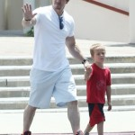 Mark Wahlberg Takes His Son Brendan to Church