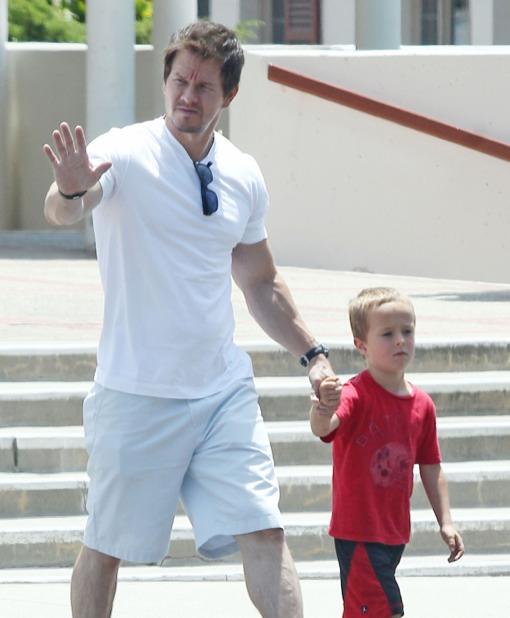 Mark Wahlberg Takes His Son Brendan to Church