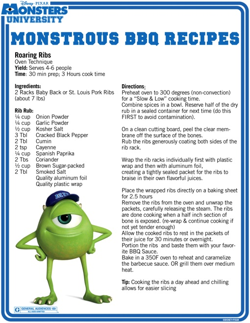 Celebrate July 4th With These Monster University BBQ Recipes