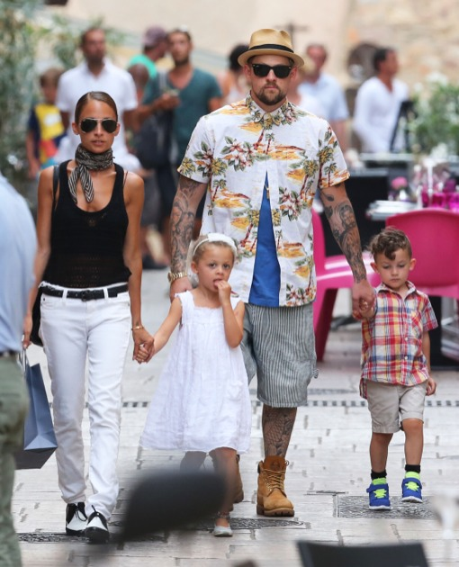 Family photo of the actress, married to Joel Madden,  famous for