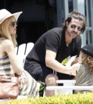 Rachel Zoe & Family Getting Gelato In Malibu