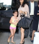 Salma Hayek & Daughter Valentina Departing On A Flight At LAX