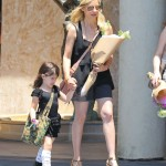 Sarah Michelle Picks Up Her Little Ballerina