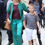 Sharon Stone Does Some Parisian Shopping With Roan