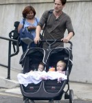 Exclusive... Stephen Moyer Takes His Twins With Him To A Meeting