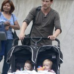 Stephen Moyer Brings His Twins To Work