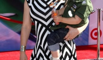 Alyssa Milano Takes Her Little Aviator To Disney's Planes Premiere