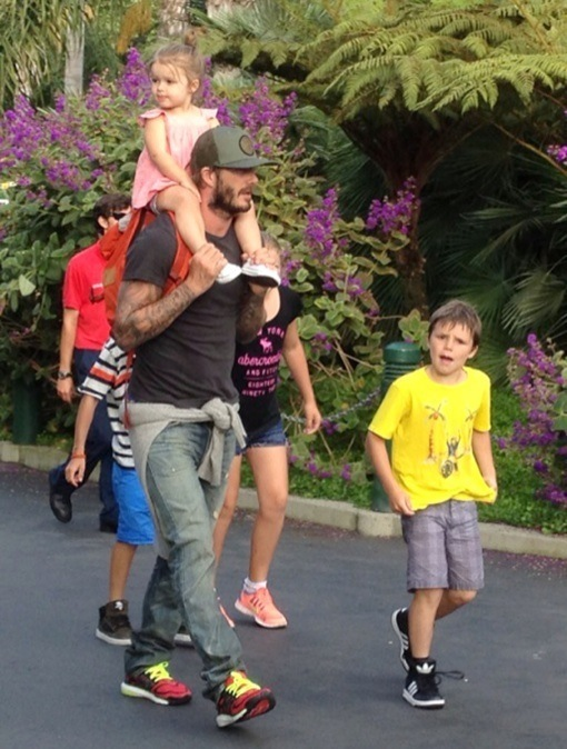 Exclusive... David Beckham & His Kids At Legoland