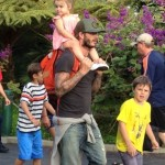 David Beckham: Legoland Day With His Kids