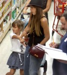 Jessica Alba Has Her Hands Full