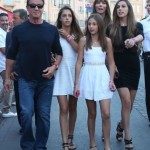 Sylvester Stallone & Family Vacation In Saint Tropez