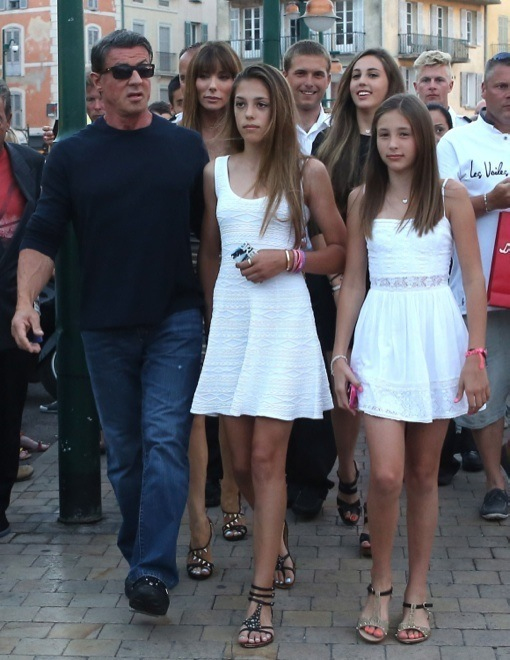 Sylvester Stallone & Family On Vacation In France | Celeb ...