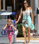 Exclusive... Adriana Lima Lunches With Her Family In Miami