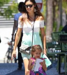 Adriana Lima Lunches With Her Family In Miami