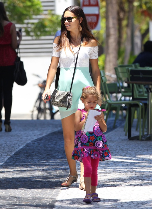 Adriana Lima Lunches With Her Family In Miami Celeb Baby