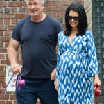 Alec Baldwin Goes For a Walk With His Bumpin' Wife
