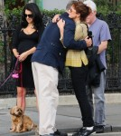Alec Baldwin & Hilaria Take Their Dogs To A Park