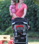 Exclusive... Alyson Hannigan & Family Having A Blast At The Park