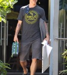 Anthony Kiedis Takes His Son To A Painting Class In Malibu