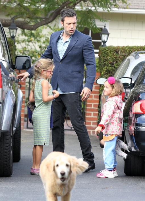 Ben Affleck Does The Summer School Run