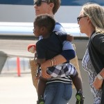 Charlize Theron & Jackson Catch a Private Flight
