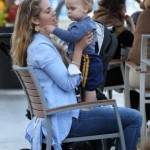 Elizabeth Berkley: Afternoon Mall Day With Her Boys