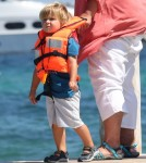 Elton John & David Take Their Boys In Saint-Tropez Vacation
