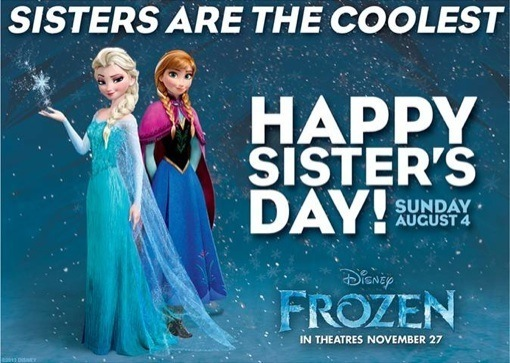 FROZEN Happy Sister Day