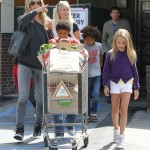 Heidi Klum Grocery Shops WIth Her Kids