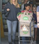 Heidi Klum & Her Kids Shopping At Whole Foods